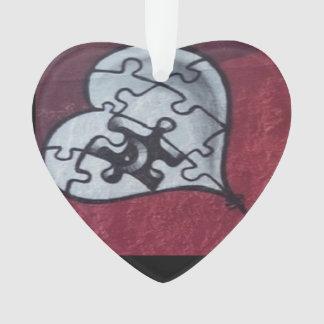 Broken Heart Design Acrylic Ornament