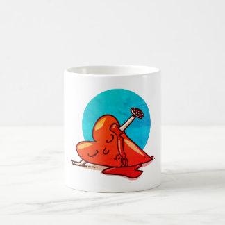 broken heart funny cartoon coffee mug