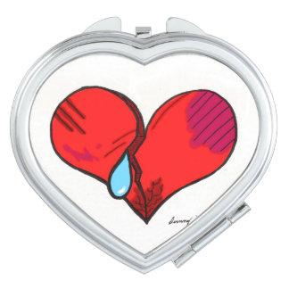"""""""Broken Heart"""" Heart-Shaped Compact Mirror"""