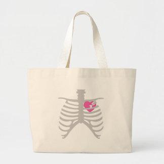 Broken Heart in Ribcage Jumbo Tote Bag