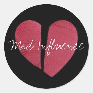 Broken Heart Logo Round Sticker