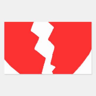 Broken Heart Rectangular Sticker