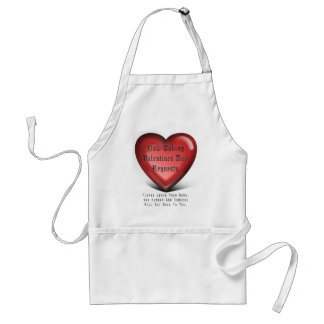 broken heart, rejection hurts adult apron