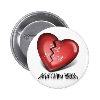 broken heart, rejection hurts pin