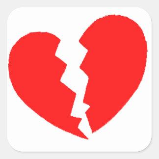Broken Heart Square Sticker