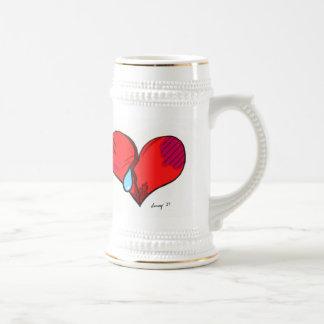 Broken Heart Stein Beer Steins