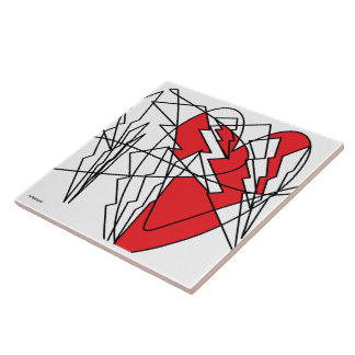 Broken heart tile