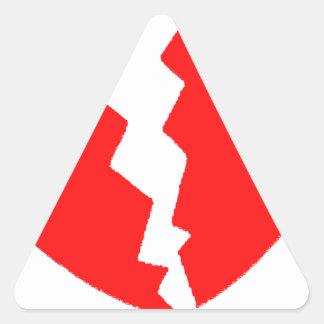 Broken Heart Triangle Sticker