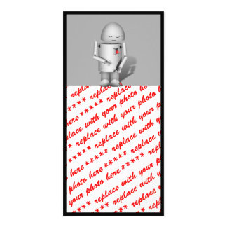 Broken Hearted Robo-x9 Personalized Photo Card