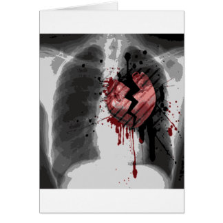 Broken Hearted X-ray Card