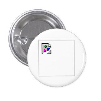 Broken Image JPG JPEG GIF PNG 3 Cm Round Badge