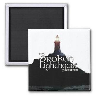 Broken Lighthouse Pictures Magnet Regular - Square