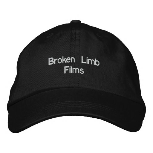 Broken Limb Films Hat Embroidered Baseball Cap