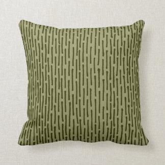 Broken Lines - Dark Olive and Khaki Cushion