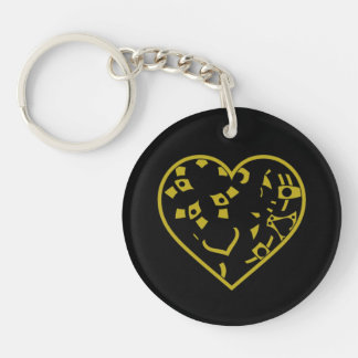 Broken Mechanical Heart Keychain