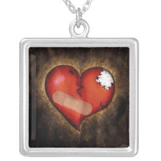 Broken/Mending Heart-sterling silver necklace