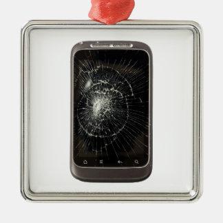 Broken Mobile Phone Metal Ornament