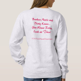 Broken Nails GRMD Slogan Sweat Shirt - Grey