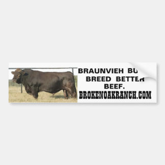 BROKEN OAK RANCH Black Joker Bumper Sticker