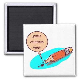 broken pencil nib cartoon style illustration magnet