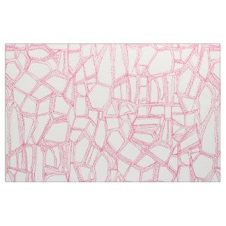 BROKEN pink off white Fabric
