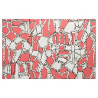 BROKEN POP coral Fabric