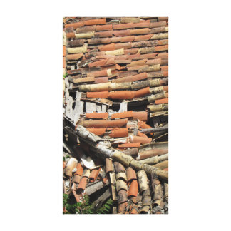 Broken Roof Tiles Canvas Print