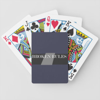 BROKEN RULES BICYCLE PLAYING CARDS