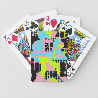 Broken shapes abstract design bicycle playing cards