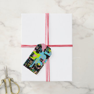 Broken shapes abstract design gift tags