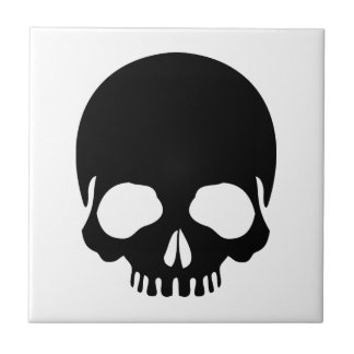 broken skull ceramic tile