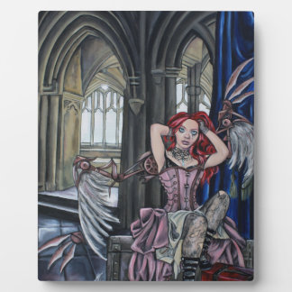 broken steampunk fairy art plaque