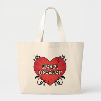 Broken Tattoo Heart Breaker Jumbo Tote Bag