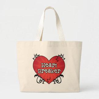 Broken Tattoo Heart Breaker Canvas Bag