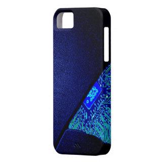 Broken Tech - Blue Case iPhone 5 Cover