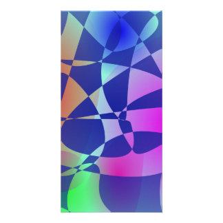 Broken Tile Mosaic Design Abstract Art Custom Photo Card