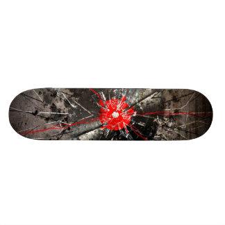 broken vinyl 20.6 cm skateboard deck