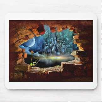 Broken wall view mouse pad
