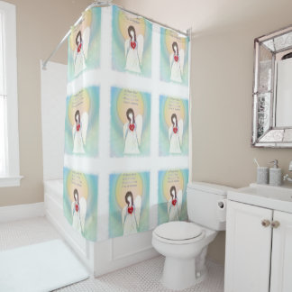 Broken Wing Angel Shower Curtain