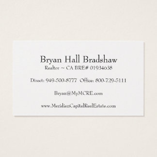 Brokerage Agent Business Card -Pearl Finish