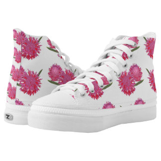 Bromeliad floral patterned printed shoes