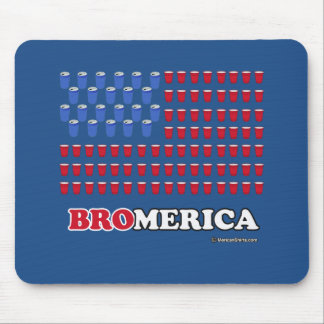 Bromerica - Red White and Brew Mouse Pad