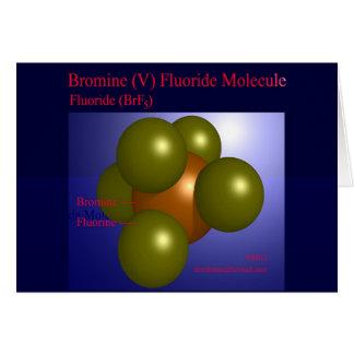 Bromine (V) Fluoride Molecule (card) Card