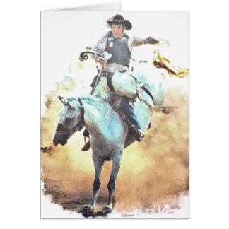 bronc rider artist card