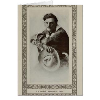 Broncho Billy Anderson 1913 vintage portrait card
