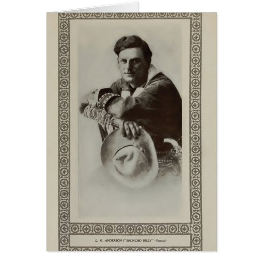 Broncho Billy Anderson 1913 vintage portrait card