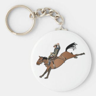 Bronco Buster without Text Keychain