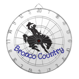 Bronco Country Dartboard With Darts