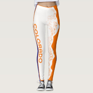 Bronco Theme II Tag 90 degree full bleed center Leggings