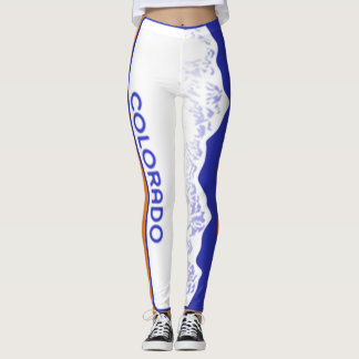 Bronco Theme Tag 90 degree full bleed centre Leggings